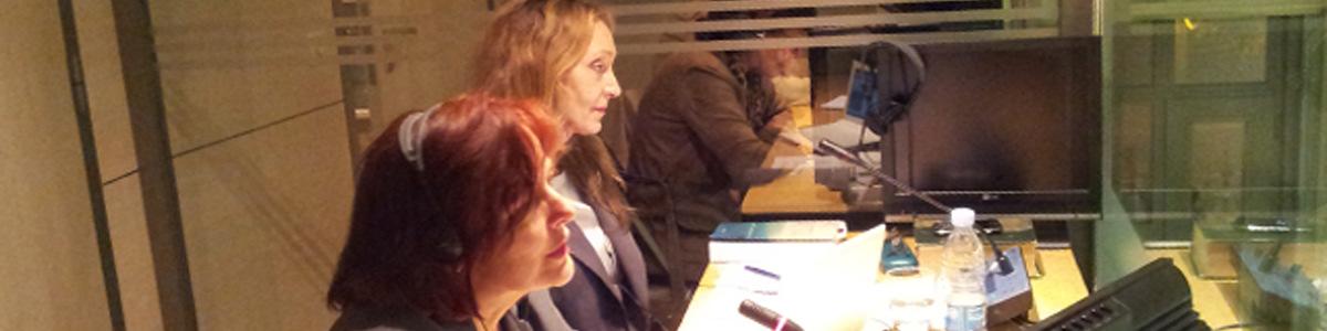 Con Geneviève Perrin 2012